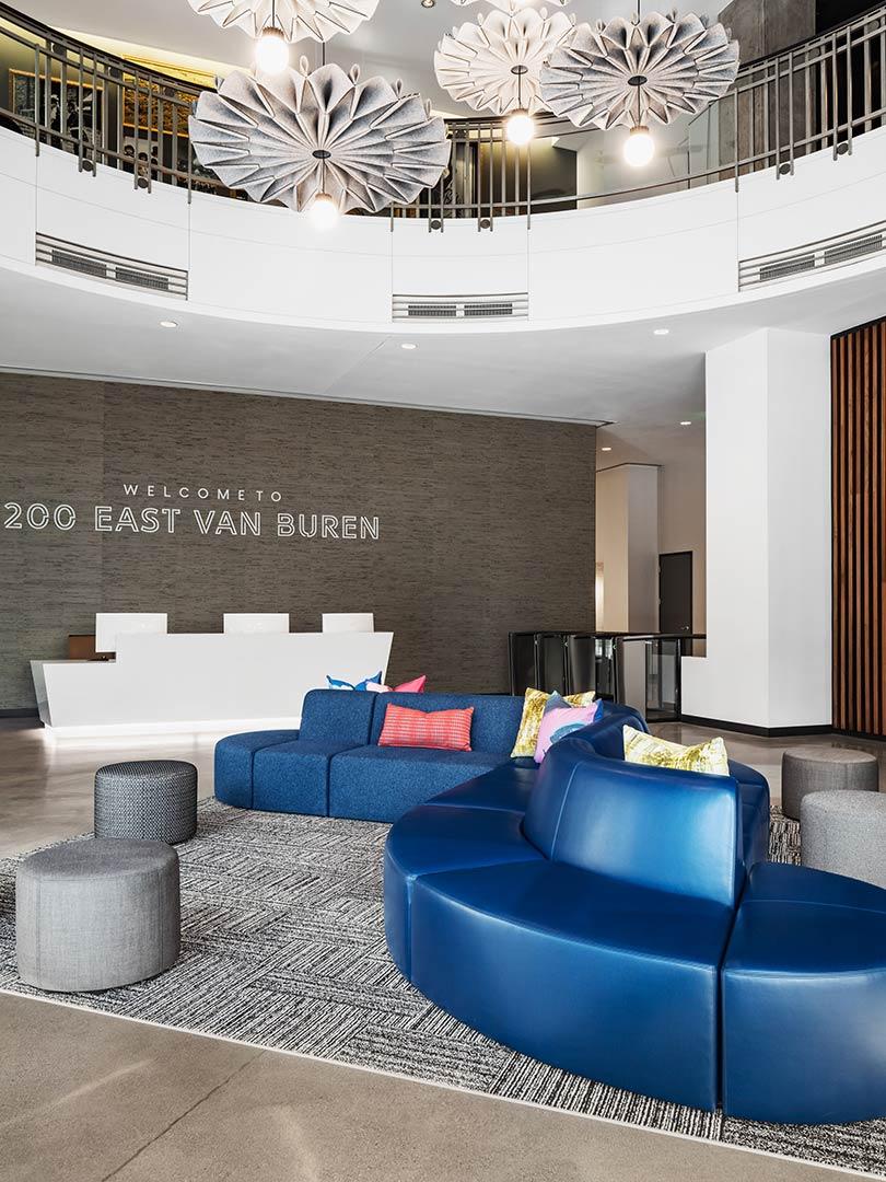 200 East Van Buren lobby designed by edgequarters